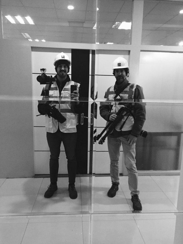 Alex Torres y Ugo De Berti en las oficinas Dottor Group