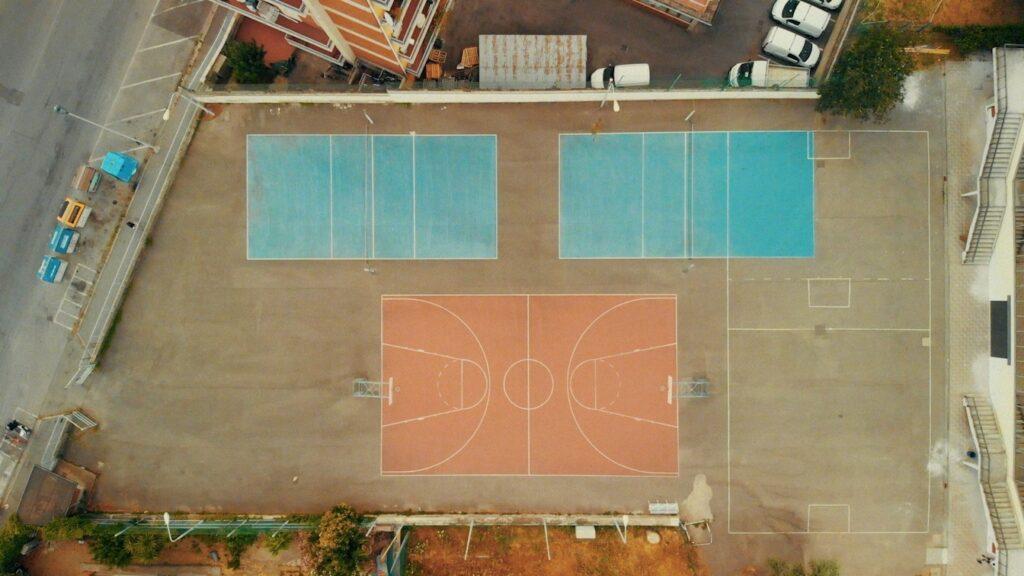 Vista drone campo basket