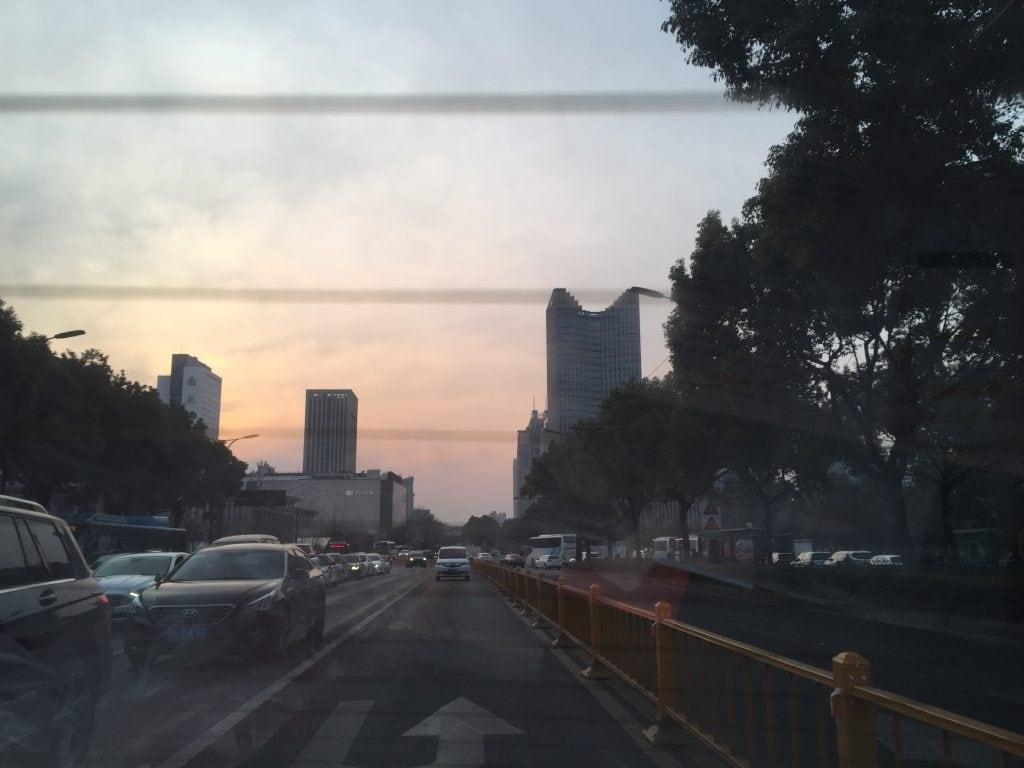 atardecer centro de hangzhou